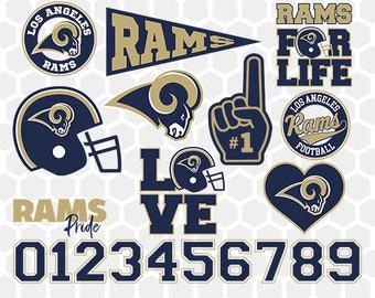 Los Angeles Rams SVG, Los Angeles Rams Files, Instant Download Football Files, Cricut, Cameo, Vinyl Machine, DXF EPS png jpg pdf - 035