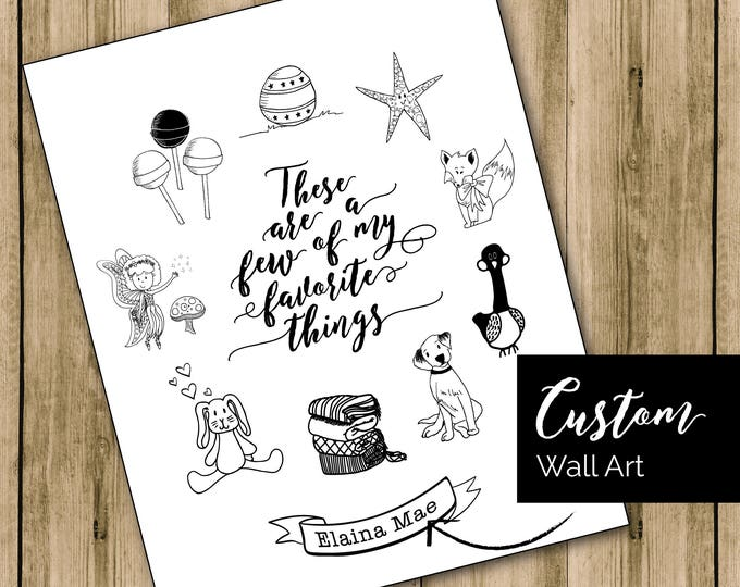 Featured listing image: Personalized Wall Art, Family Gift, Children's Room Print