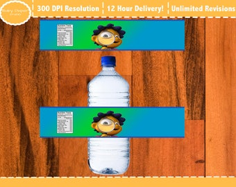 Sid the Science Kid Water bottle label, Sid the Science Kid bottle label, Sid the Science Kid Printable label