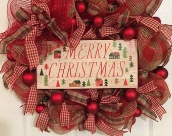 Christmas Wreath, Holiday Wreath, Classic Christmas Wreath