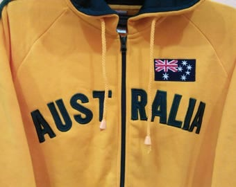 AUSTRALIA Hoodies Zipper pullover spellout embroidery medium size