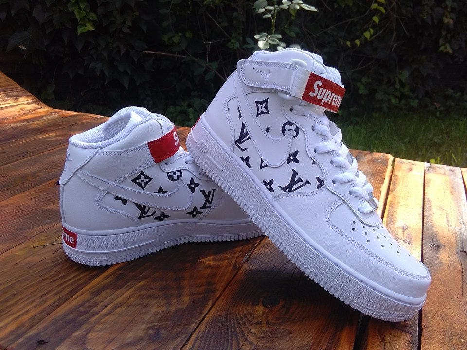 Supreme X Louis Vuitton Shoe Nike Air Force Custom Sneakers