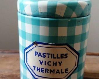 Metal box vichy pastille vintage