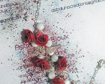 Braccialetto Rose Rosse - Bracelet Red Roses ~ Astraluna Bijoux
