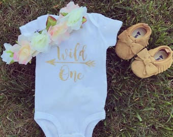 First birthday outfit-Wild one onesie