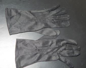Vintage Black Evening Gloves