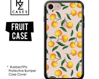 Cherry Phone Case, Summer Case, Cherry iphone Case, Fruit Phone Case, iPhone 7, iPhone 6, iPhone 7 Plus, Rubber Case, Bumper Case