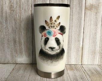 20oz tumbler, Panda lover gift