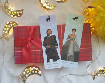 Jamie and Claire Wedding Bookmark - Outlander