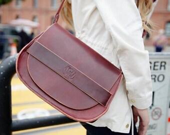 Crossbody Bag Women's Purse Women's Crossbody Bag Leather Crossbody Bag Full Grain Veg Tan Leather Shoulder Bag Gifts For Her