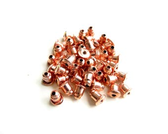 50 end caps stopper rubber rose gold