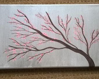 Acrylic Canvas Painting 'Cherry Blossom'
