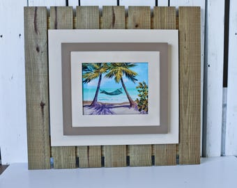 Rustic Fence-Style Wood Frame (8x10) / rustic frame / rustic wooden frame / custom frame / frame for beach house