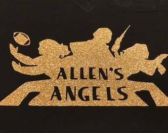 NFL Saints Personalized Heat Transfer Charlie's Angels