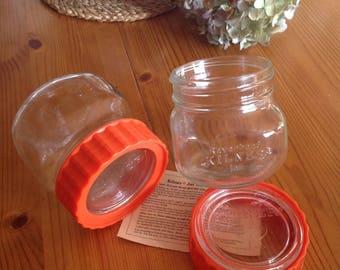 Classic Ravenhead Kilner storage jars . 1960's retro vintage Kitchenalia