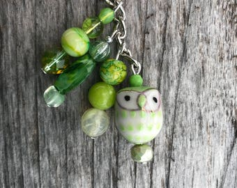 Keychains for Women, Owl Bag Charm, Owl Gifts, Beaded Keychain, Beaded Gifts not Jewelry, Purse Charms for Handbags, Owl Purse Charm, Women