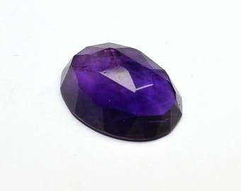 Amazing Natural African Amethyst Rose Cut Oval 13X17.7 MM 1 PC  Faceted Fine Quality Purple Color CODE AR08