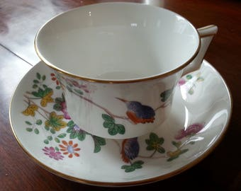 Wedgwood CUCKOO Gold Trim Colonial Williamsburg Cup and Saucer