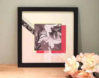 Handshakes & Flowers - Digital Collage Art Print Poster
