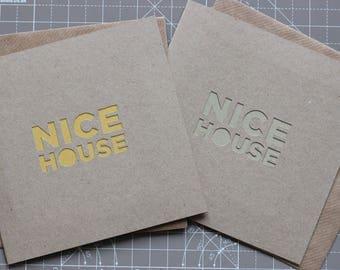 Nice House Handmade Greetings Card