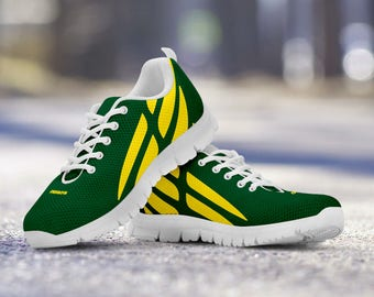 Oregon Ducks Football Fan Custom Running Shoes/Sneakers/Trainers - Ladies + Mens Sizes