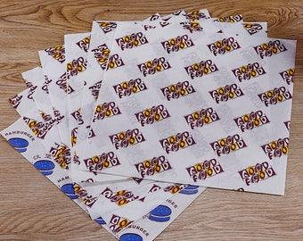800 piece Hamburger sandwich wrappers,Hamburger wrappers,sandwich wrappers 800 Sheets / 22cm x 25cm