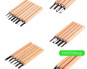 High Quality Wood Carving Set Chisel Gouges Woodcut Knife Scorper Hand Cutter for Arts Crafts DIY Tools Woodworking Tool