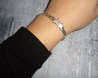 Bracelet Silver Asterisks
