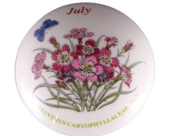 Botanic Garden July - Pinks Trinket Box from Portmeirion