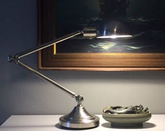 robert abbey kinetic pharmacy lamp brushed chrome
