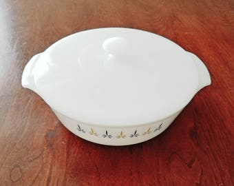 Fire King candle glow dish