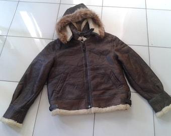 Sheepskin Jacket type B 3 Hoodie By Lambspia