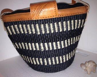 Handmade Basket . Handwoven African Sisal Basket . Market Basket . Groceries Basket . Vegetables Basket . Storage basket . Basket