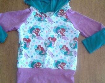 Little Mermaid Grow with me hoodie