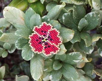 Beaded Red flower!