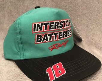 Interstate Batteries Racing Hat USA NASCAR 18 Bobby Labonte Vintage Cap 1266