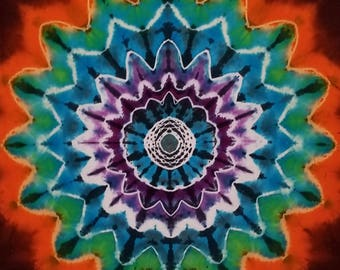 Tie-Dyed  Tapestry, Tapestry, Tie Dye