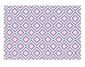 Unique High Quality Triangular Pink Multi Coloured Gift Wrapping Paper-Size A3 - GP100