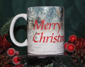 Merry Christmas With Snowflakes Mug