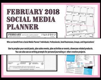 February 2018 Social Media Planner