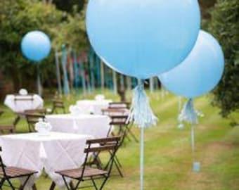 "Large 36"" Light Blue Balloon - Giant Light Blue Balloon"