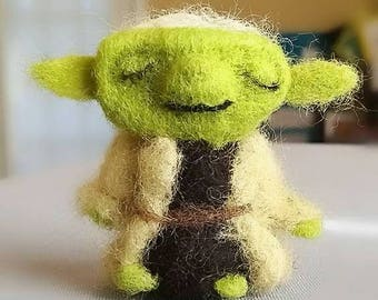 Felted Yoda Ornament or Plush