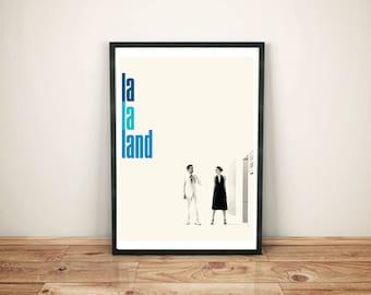 La La Land Movie Poster- La la land movie print- La la land gift White