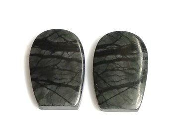 Picasso Jasper Fancy, Pair Cabochon,Size- 19X11 ,MM,Natural Picasso Jasper, AAA,Quality  Loose Gemstone, Smooth Cabochons.