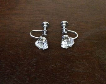 Vintage factory made diamond earrings from the 1960's