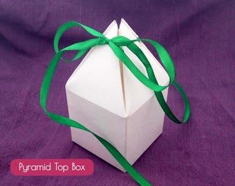 PDF Pyramid Top Gift Box, Blank box, printable template, pyramid box, wedding favor box, party box, shower favor box, house box, Christmas