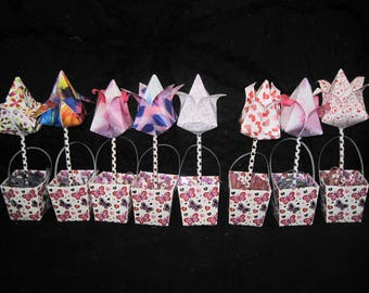 Set of 8 Origami Flowers