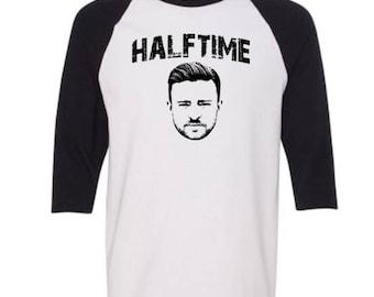 Justin Timberlake Halftime Adult Unisex Baseball Style Jersey Shirt Halftime Performing Tee