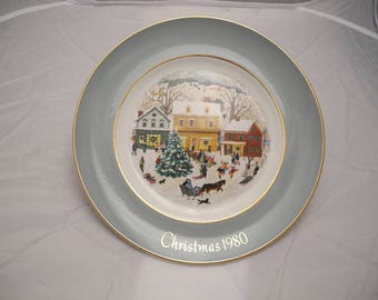 Avon 1980 Christmas Plate Series 8th Edtion