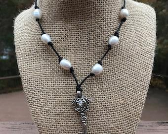 Rhinestone Key Necklace